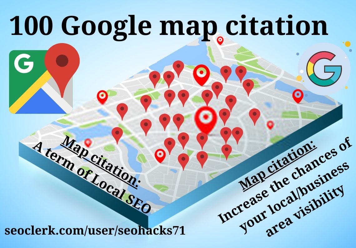 100 map citation for increase your business area visibility