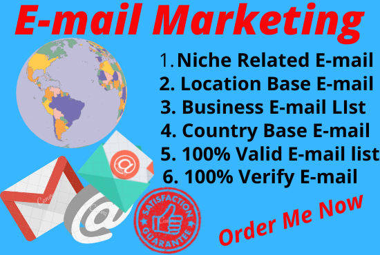 I will give you active email list