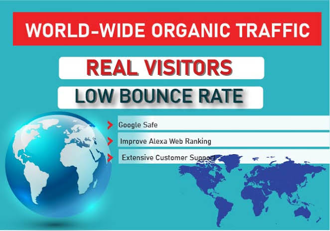 100k worldwide traffic to improve your ranking website google first page