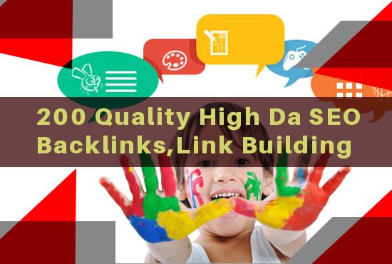 I will do difference high da seo backlinks,  link building