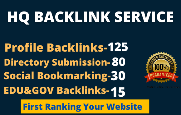 I will build high quality dofollow SEO backlinks Service