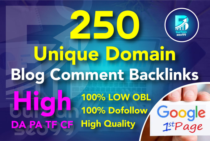 I will 250 unique domain dofollow blog comments seo backlinks