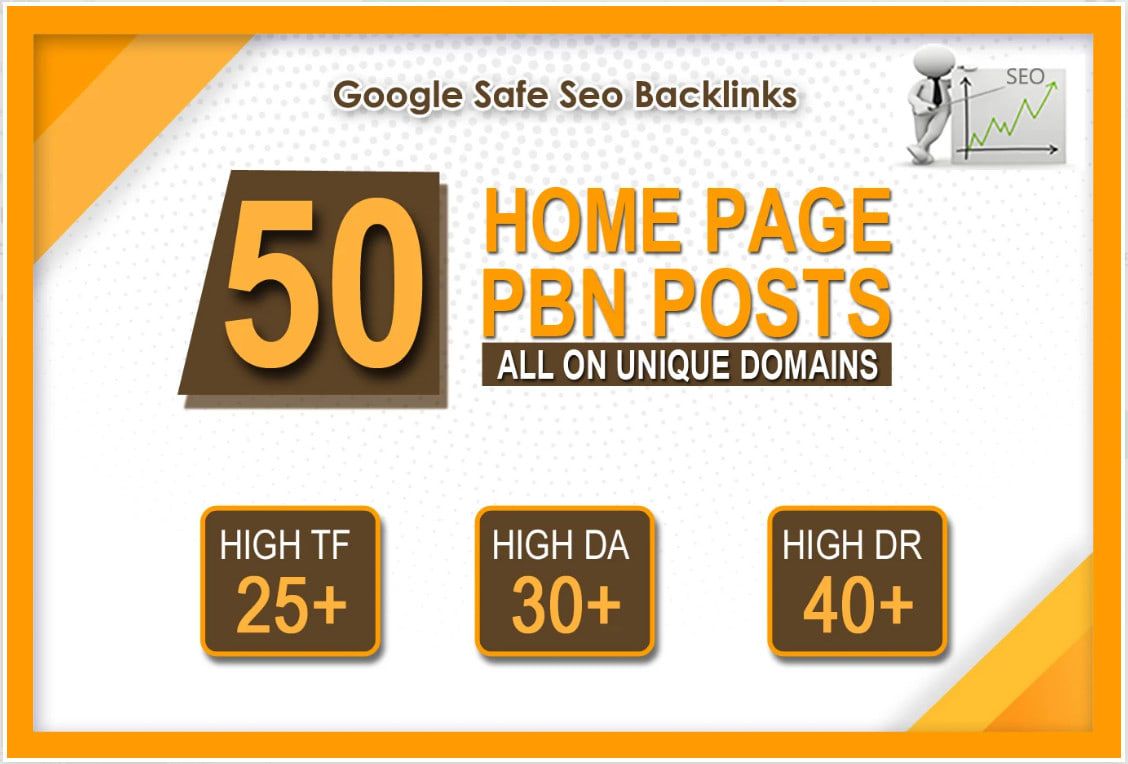 I will 50 high da pa tf cf homepage pbn backlinks permanent
