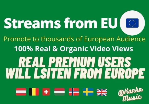 Music Promotion Organically for Streams from Europe Germany England and more