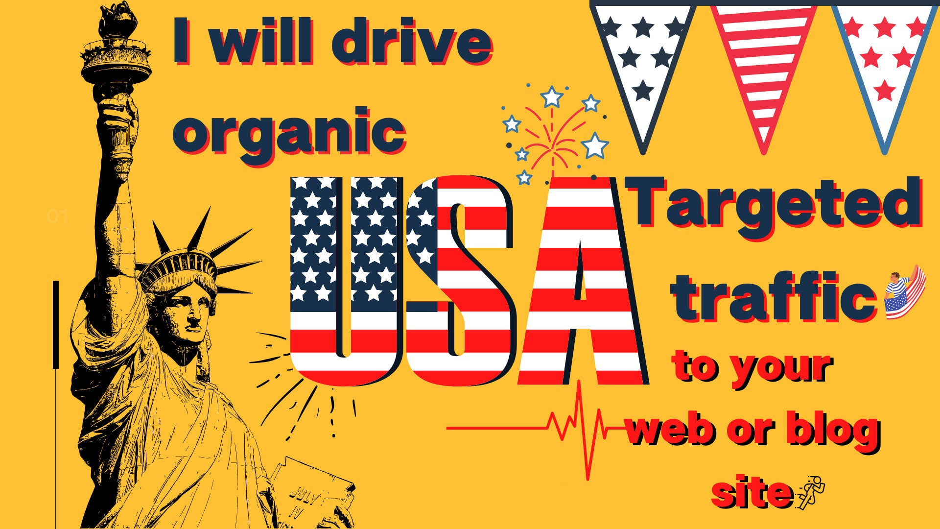 I will drive 2000 organic USA targeted traffic to your web or blog site