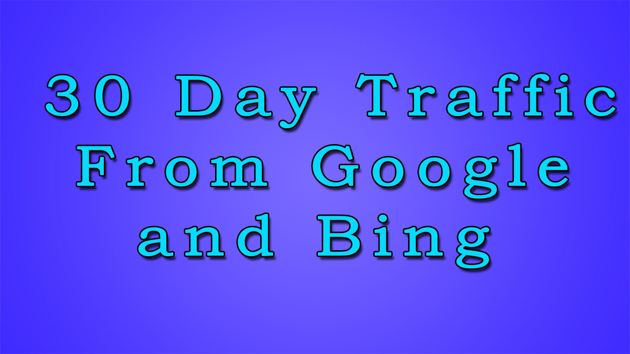 keyword targeted Traffic For 30 day From Google and Bing