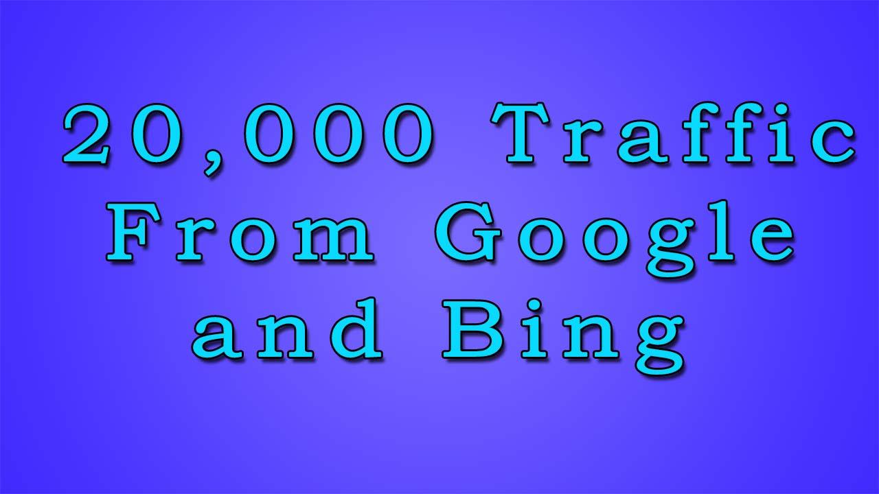 Organic Keyword Traffic from Google or Bing
