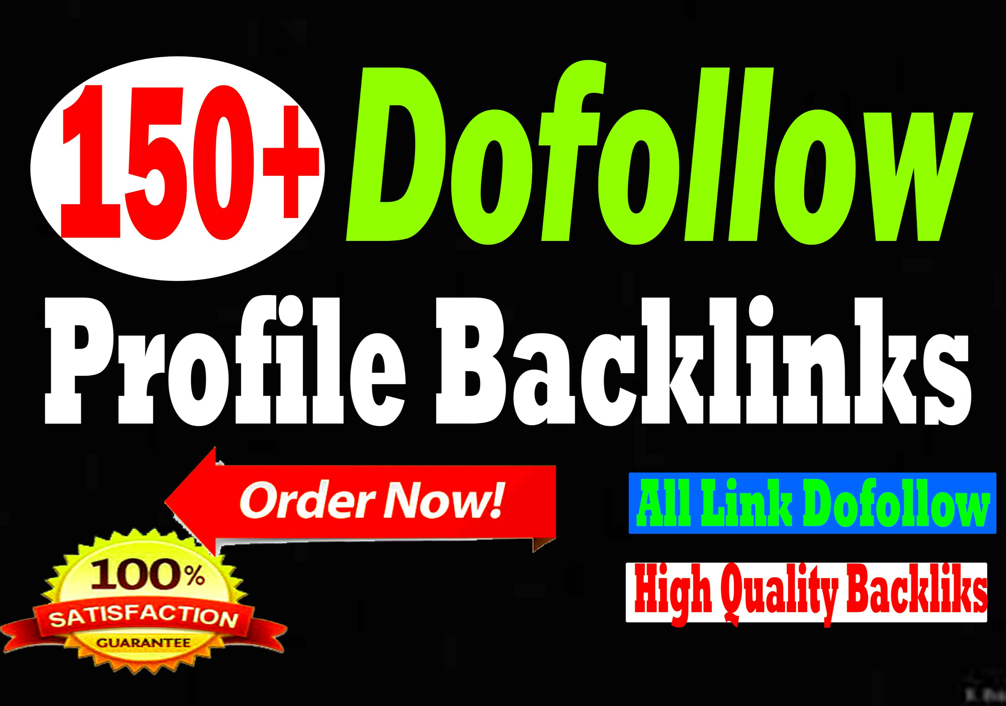 I will do manually 150 high quality profile creation backlinks
