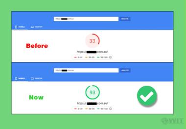 I make wordpress website speed optimization, increase page speed