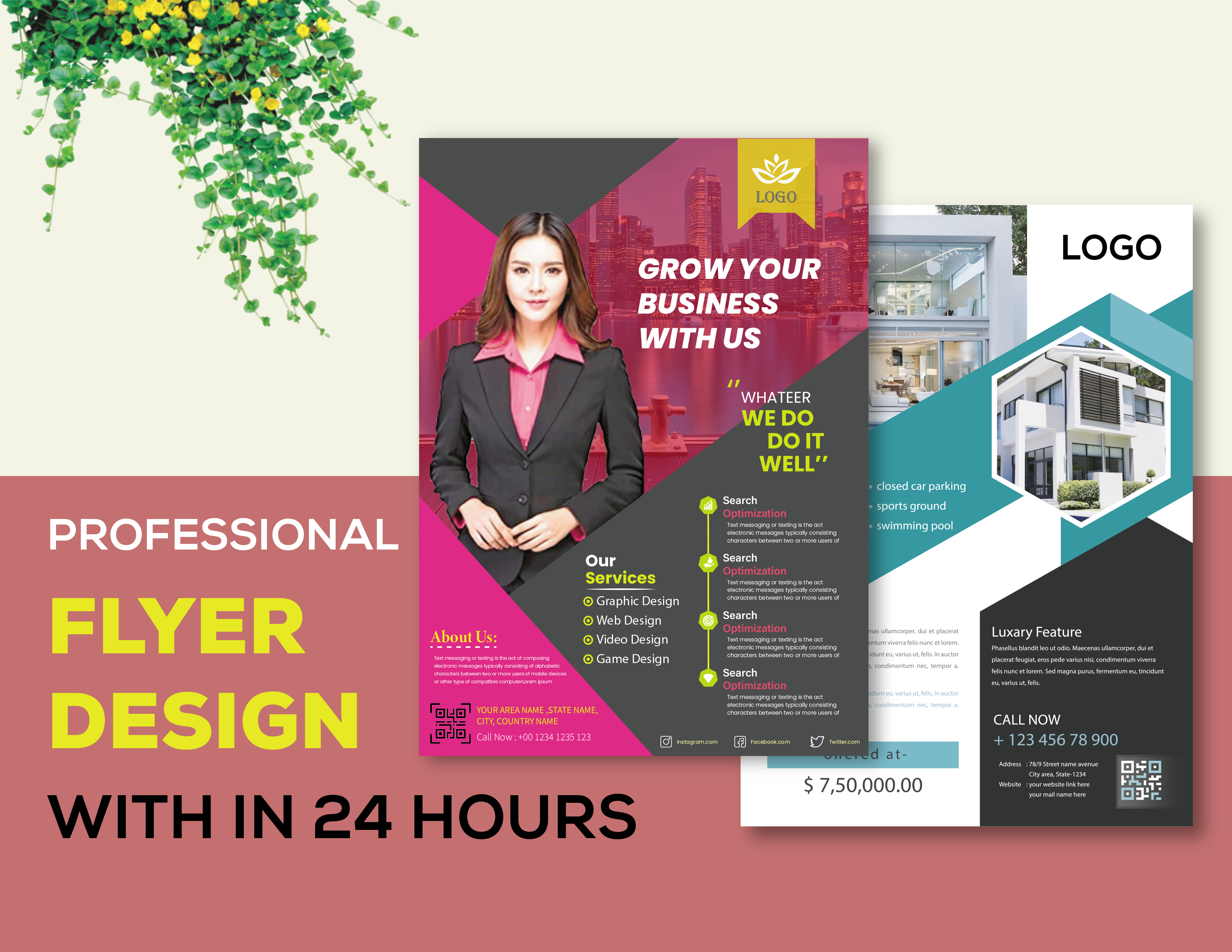 I will provide professional and modern business flyer design