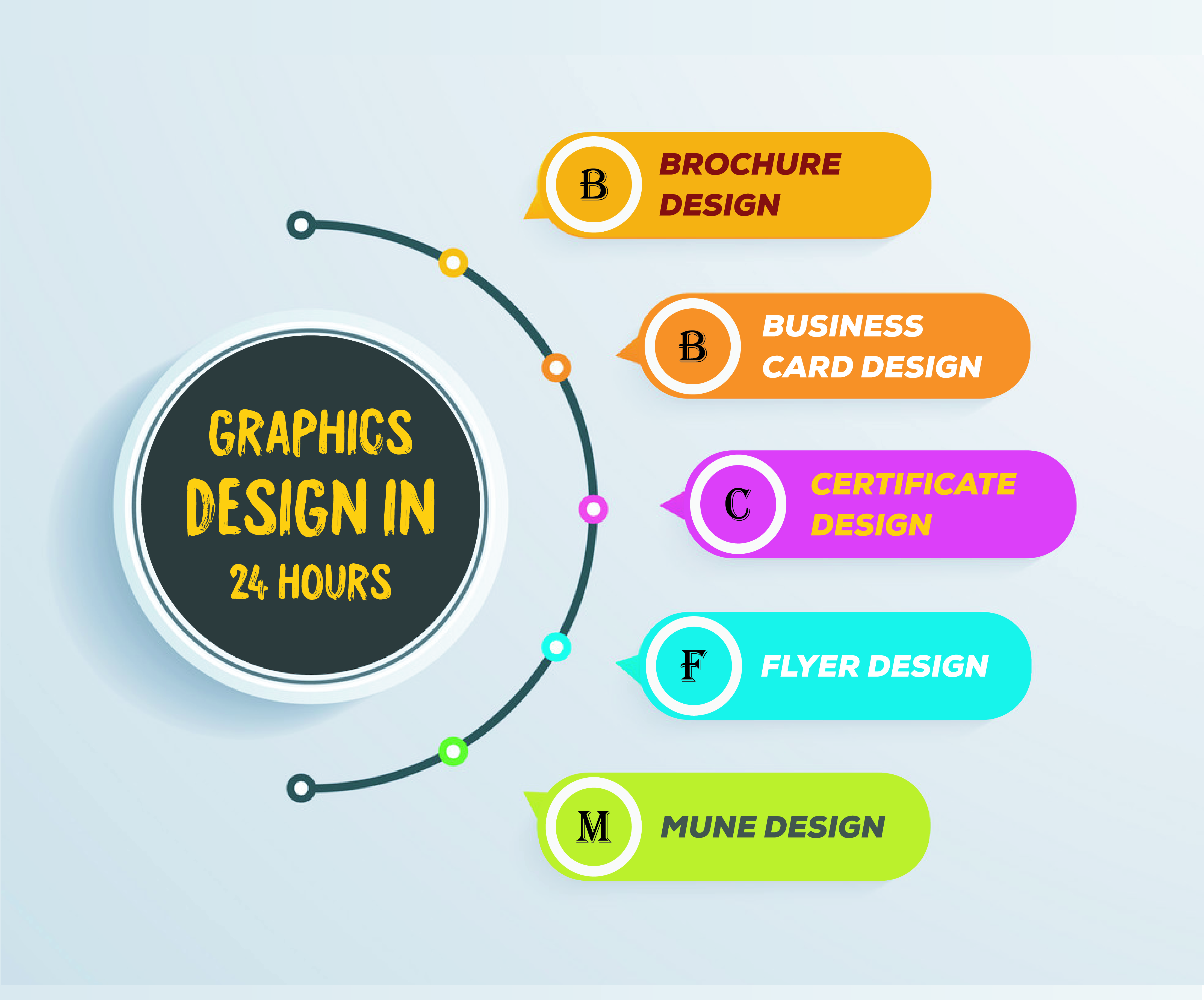 I will provide professional graphics design with in 24 Hours