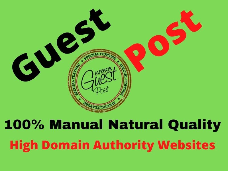 10 Guest Post 10 Different Websites Push your site Google 1st Page