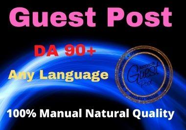 Write and Publish 12 Guest Post High Authority DA 90+ Unique Content Natural Contextual Backlinks