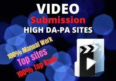 l will do 20 video submissions on the top video sharing sites backlink