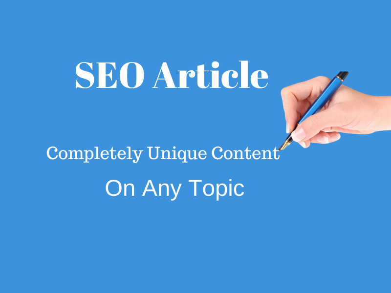 I will write 1000 words SEO optimized article on any niche for your blog