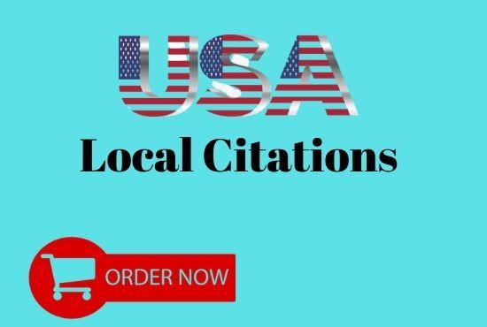 I will do top 50 USA local citations