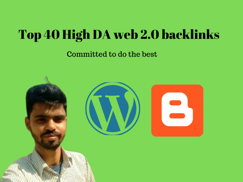 I will create top 40 high domain authority web 2 backlinks