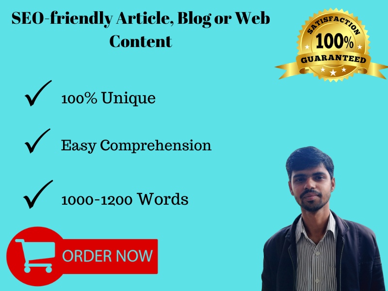 I will write 1000 to 1200 words article or content on any topic
