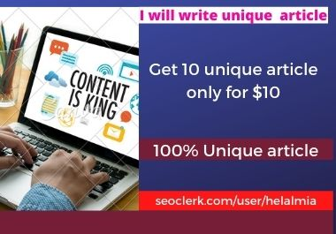 I can give you 10 unique articles to grow your website