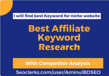 I will find 20 best keyword for Affiliate Marketing