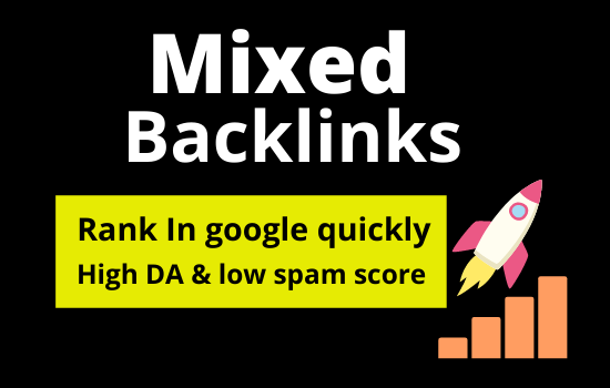 20 Mixed backlink on High DA low spam score site permanently post rank your site quickly