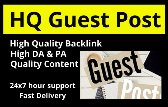 I will write & Published 5 Guest post on High DA site permanent backlink rank your website