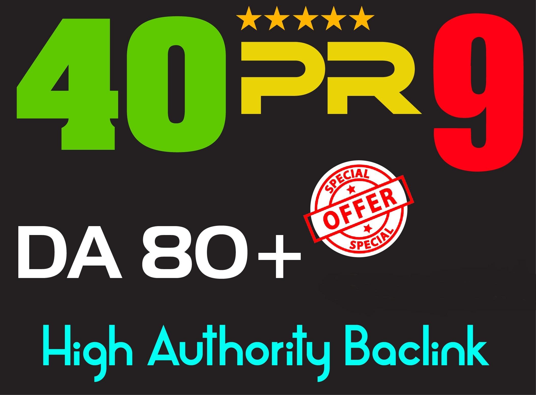 do 40 pr9 backlinks from top 90 da skyrocket SEO service