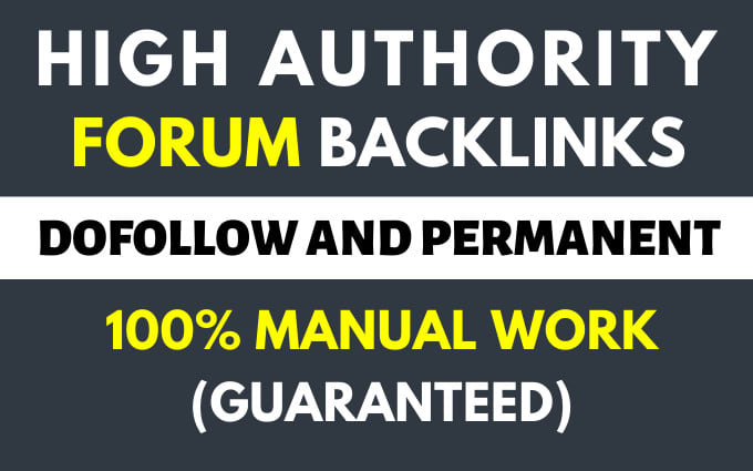 do forum posting backlinks 120 high quality links