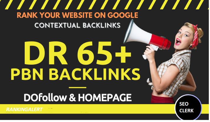 5 High Quality DR 65 Plus Homepage PBN Backlinks For SEO - Ranking Alert