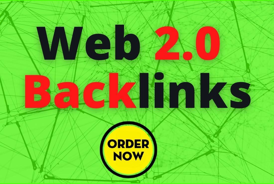 I will build 20 dofollow manual web 2.0 backlinks