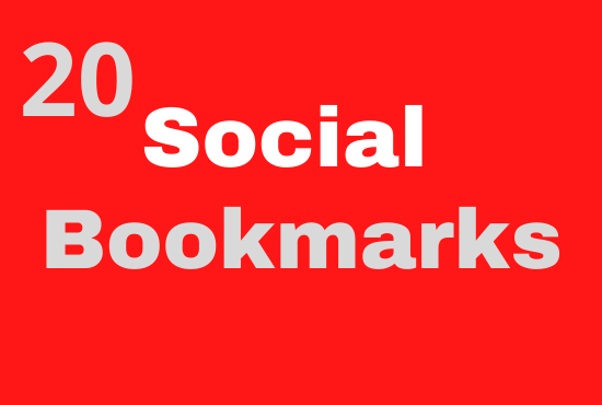 I will do 20 Social Bookmarks For your Website On High Authority Websites