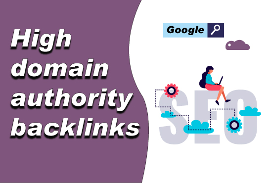 Make 50 High Authority backlinks,  SEO link building for google ranking your websites