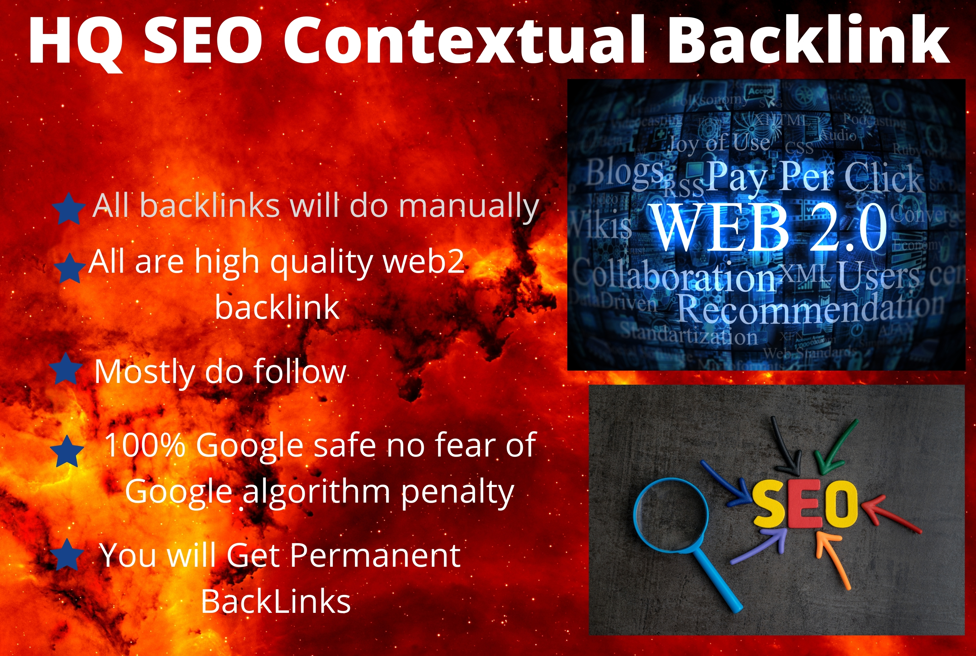 I will provide 50 HQ SEO Contextual Backlink