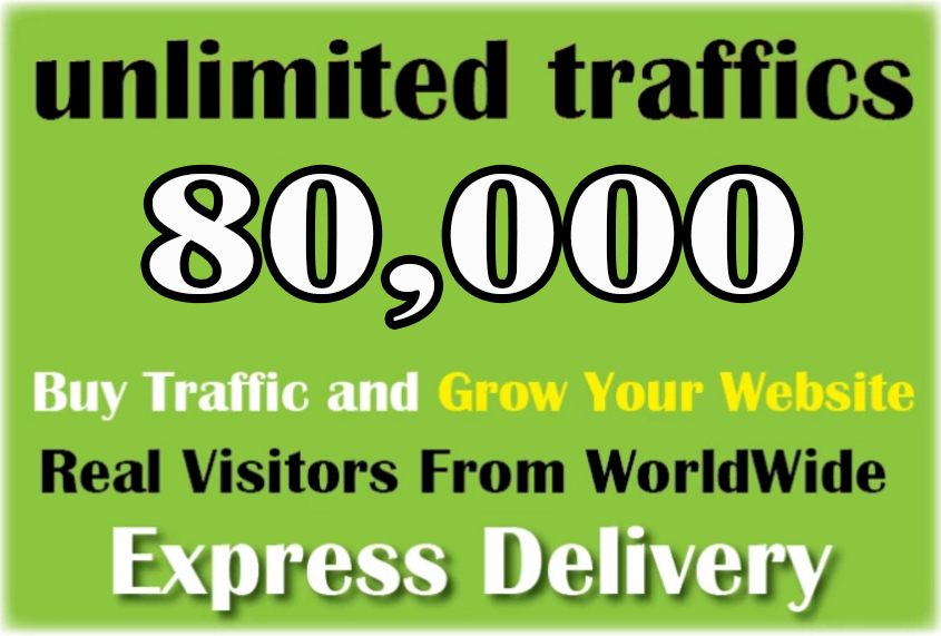 drive 80,000 web traffic,  google visitors instagram,  youtube,  twitter,  linkedin
