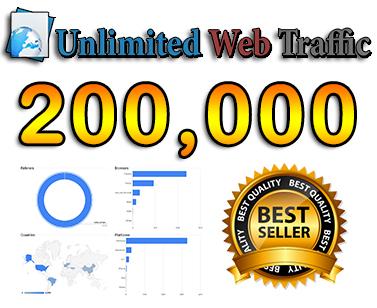 drive 200,000 web traffic,  google visitors instagram,  youtube,  twitter,  linkedin