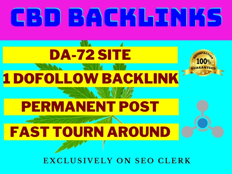I will publish cbd guest content on da 72 site with quality backlink