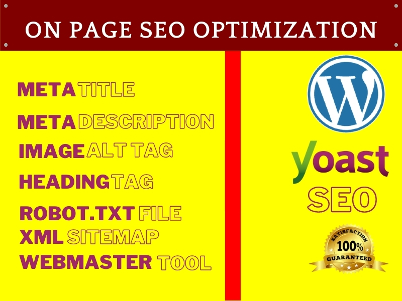 I will do best and error free wordpress yoast seo on page optimization