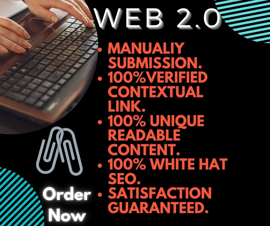 I will build 15 Web 2.0 Backlinks with High DA 70 +