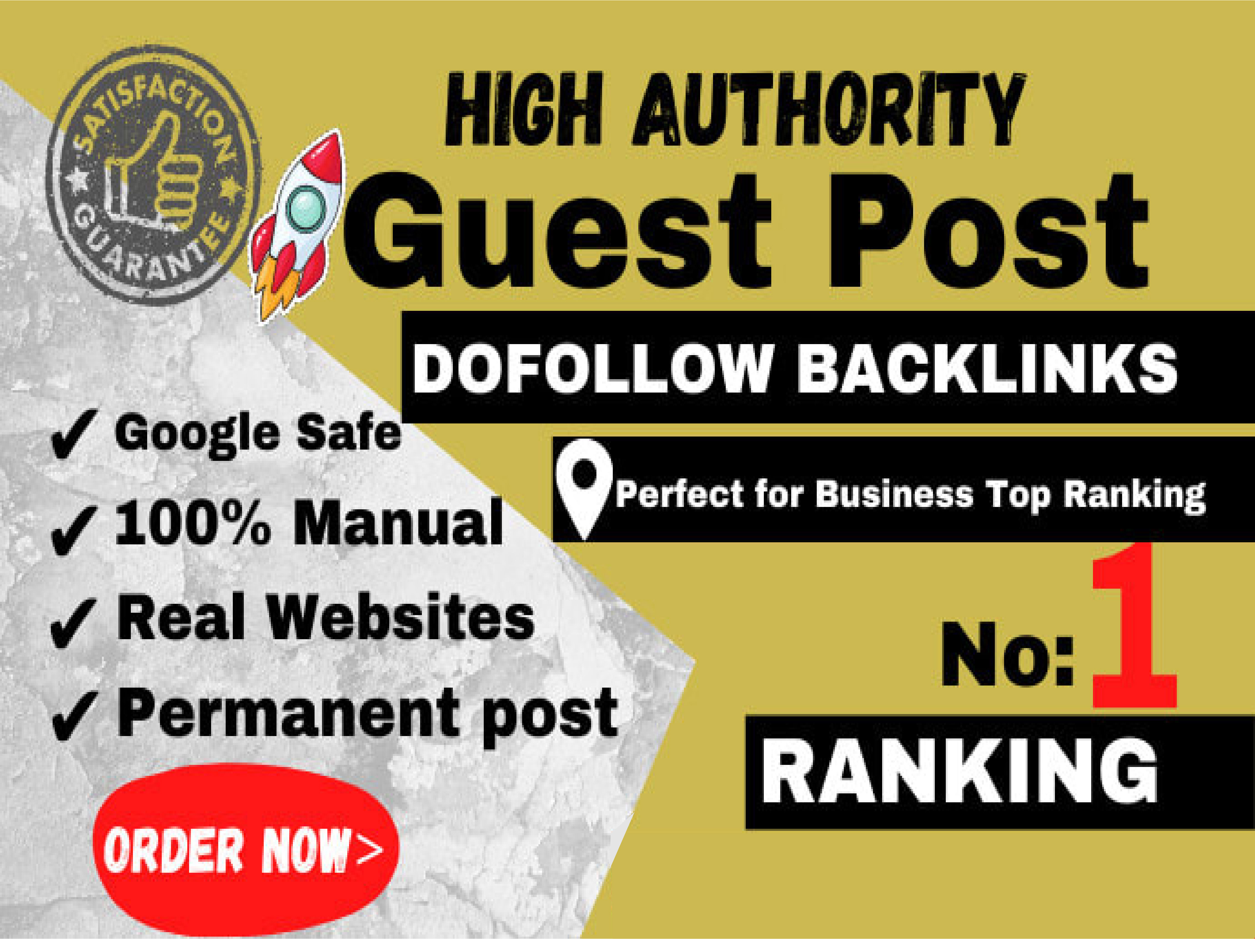 Create 20 Blog high authority Dofollow Guest Posts permanent Backlinks