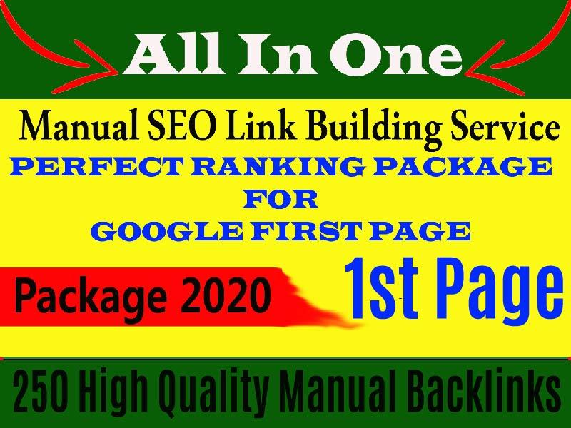 Rank Your Website On Google,  250 High Quality Whitehat SEO Backlinks Manual Link Building.