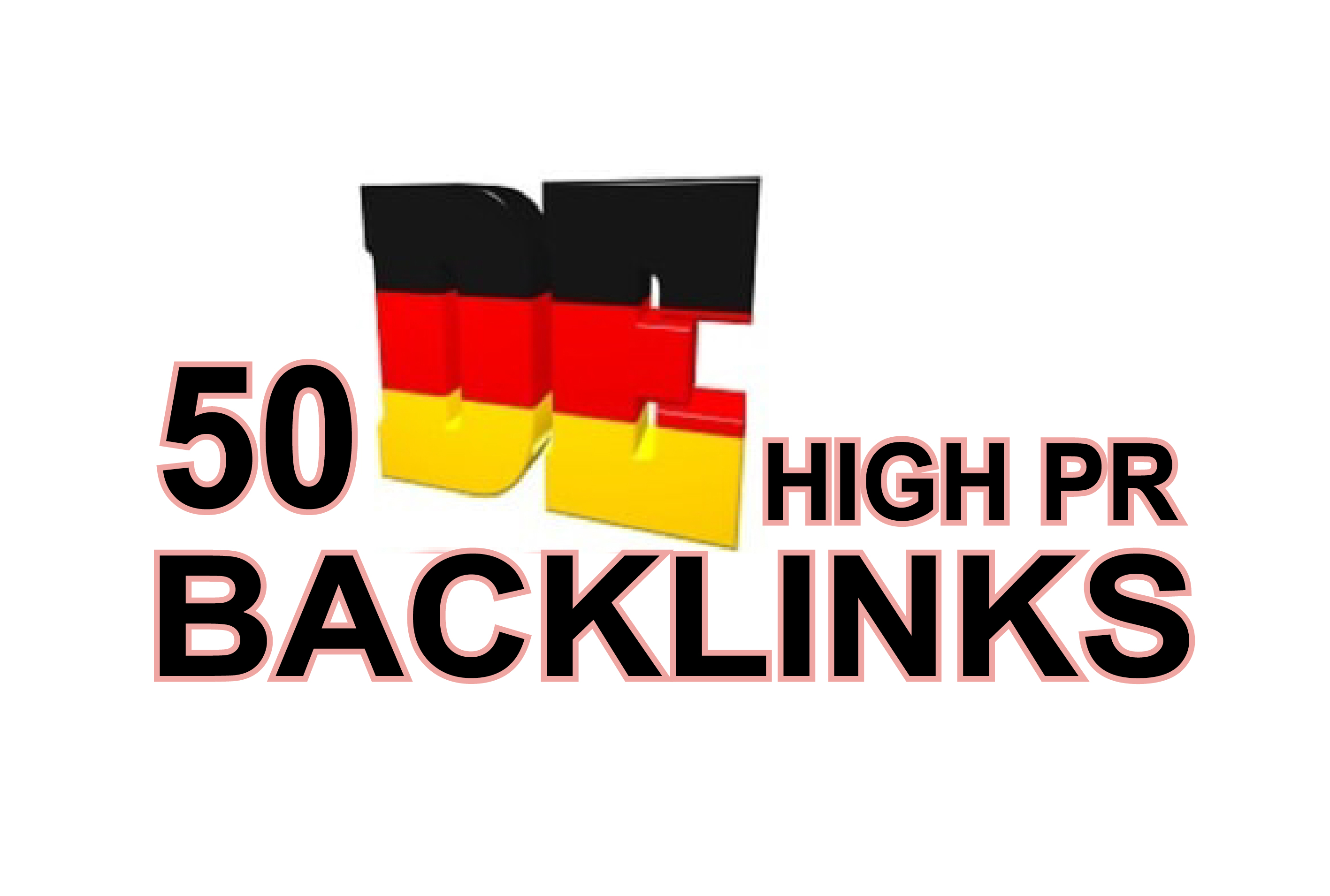 I will create 50 high pr German backlinks
