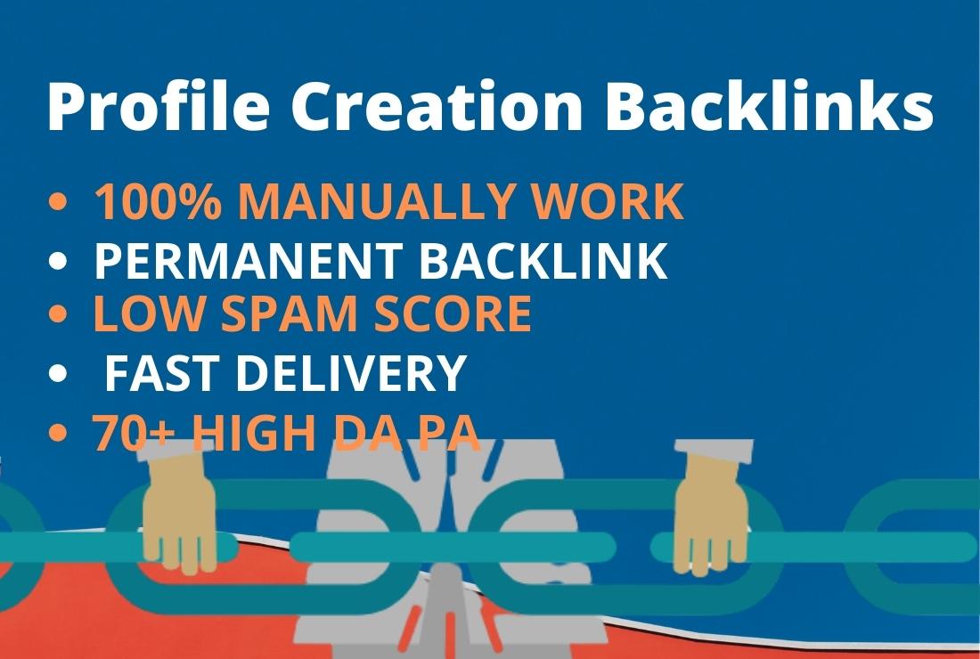 Manually high quality 30 profile creation backlinks