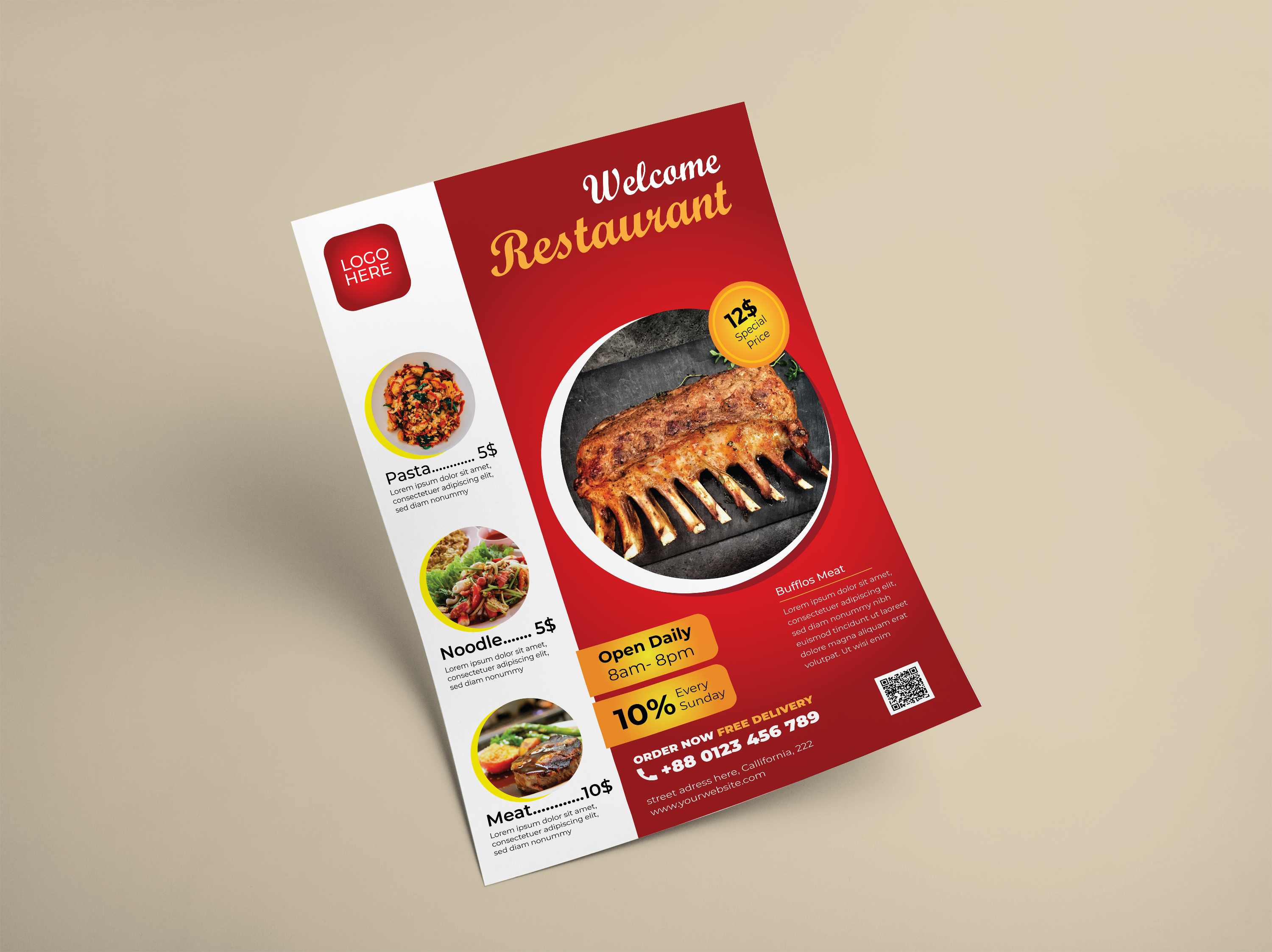 I create professional Restaurant flyer or poster design