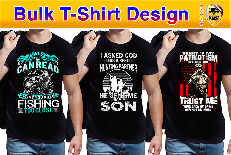 I will do creative bulk t shirt design and custom t shirt designs