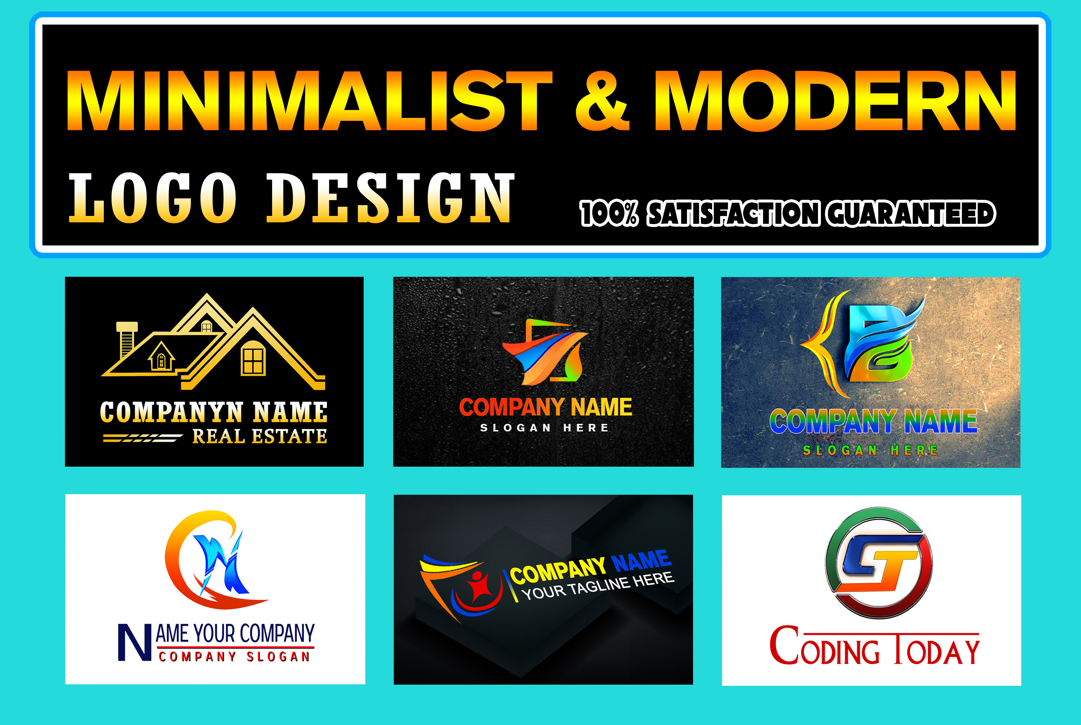 I will do minimalist and modern logo design for your business,  brand or company