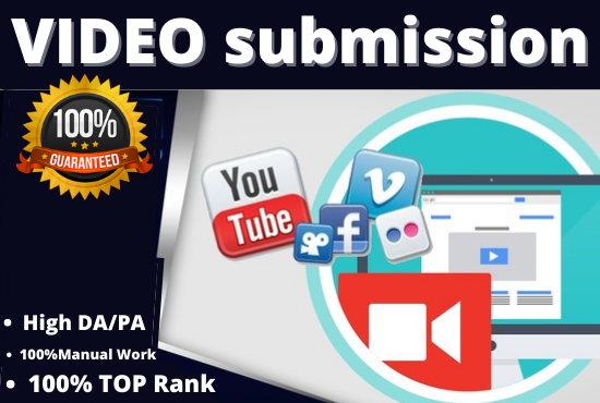 I will manually 30 video submission on the top video sharing sites backlink