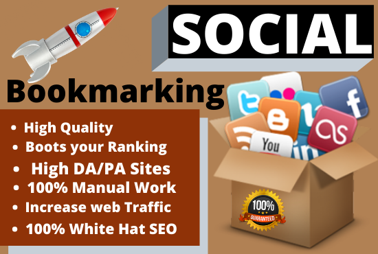 I Will Create 30 Social Bookmarking Backlinks For increase your website rank