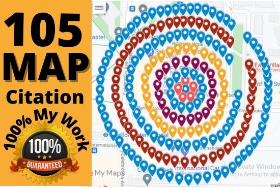 I will create 105+ google maps citation to rank website,  directory submission,  business listing