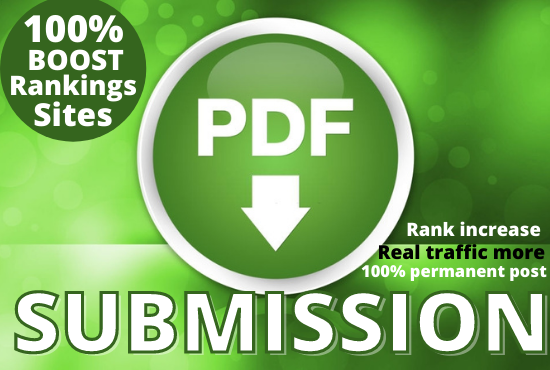 I Will do Best quality30 PDF submission permanent backlnk to rank in google by quality link