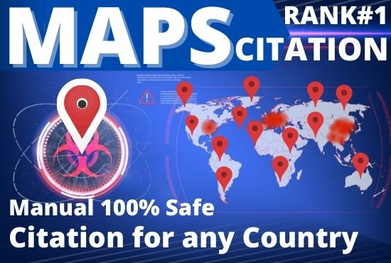 I will create 200+ google maps citation to rank website,  directory submission,  business listing